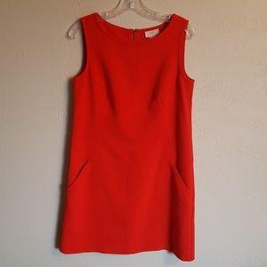 Loft red sheath dress